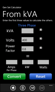 From kVA 3 Phase