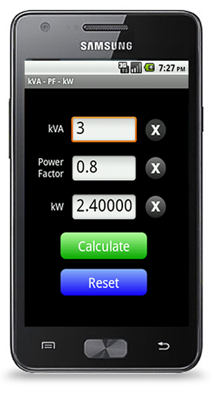 kVA Calculator for Android